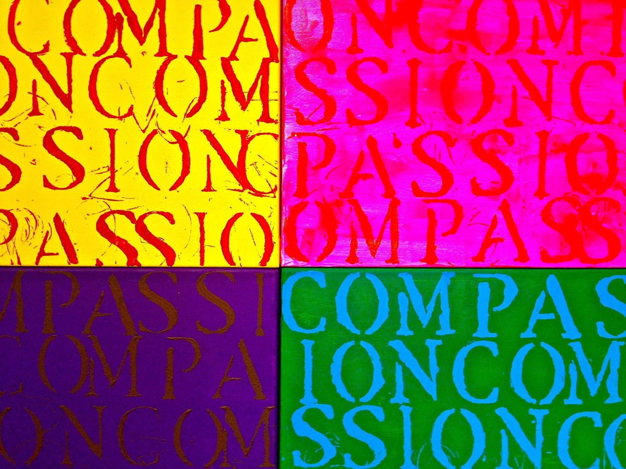 """DEBUT of """"34 COMPASSION Paintings"""" Installation…"""