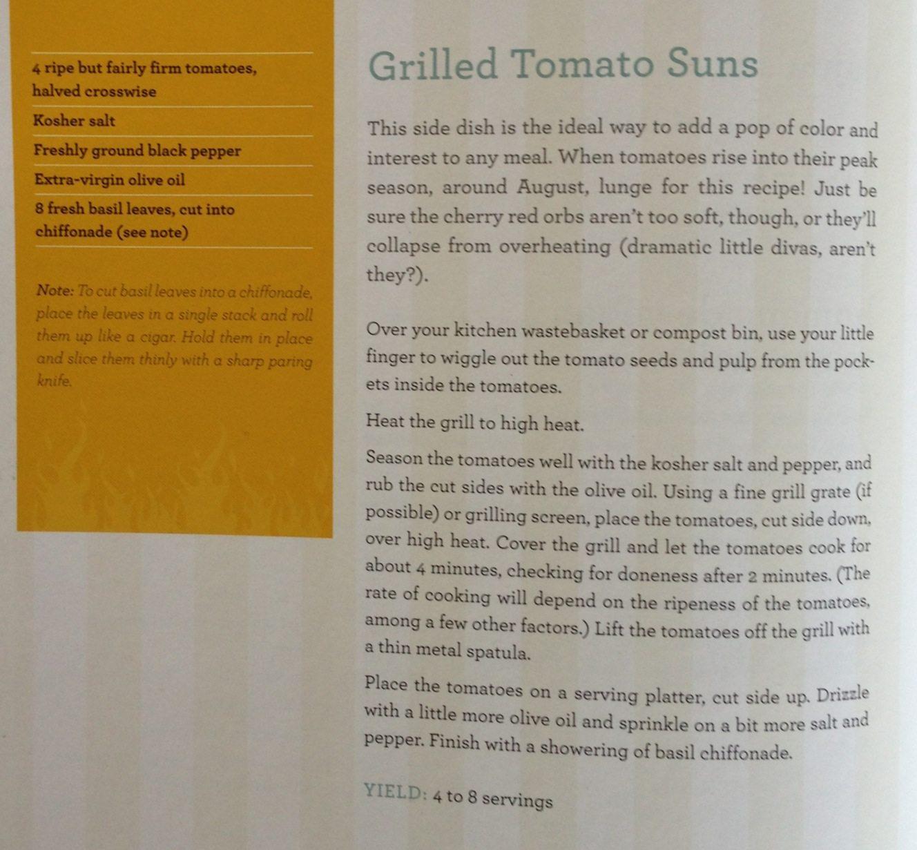 Grilled Tomato Sun Recipe