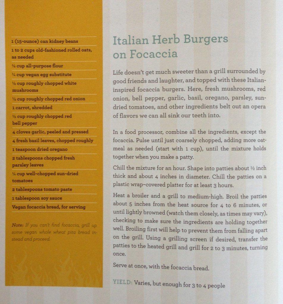 Italian Herb Burgers Recipe