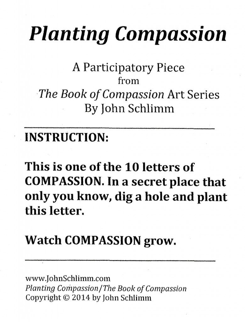 Planting Compassion - Instructions Single - by John Schlimm