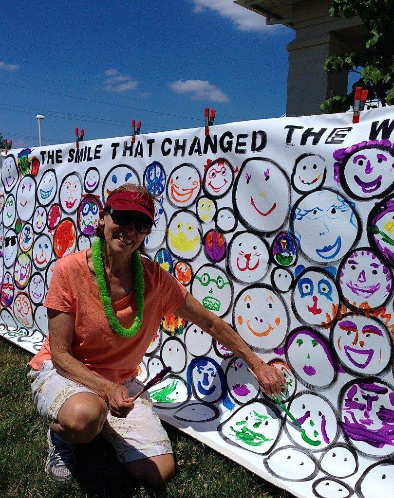 Rehoboth Beach VegFest SMILE piece by John Schlimm - June 14, 2014 -11, Patricia Haddock, Founder of Rehoboth Beach VegFest