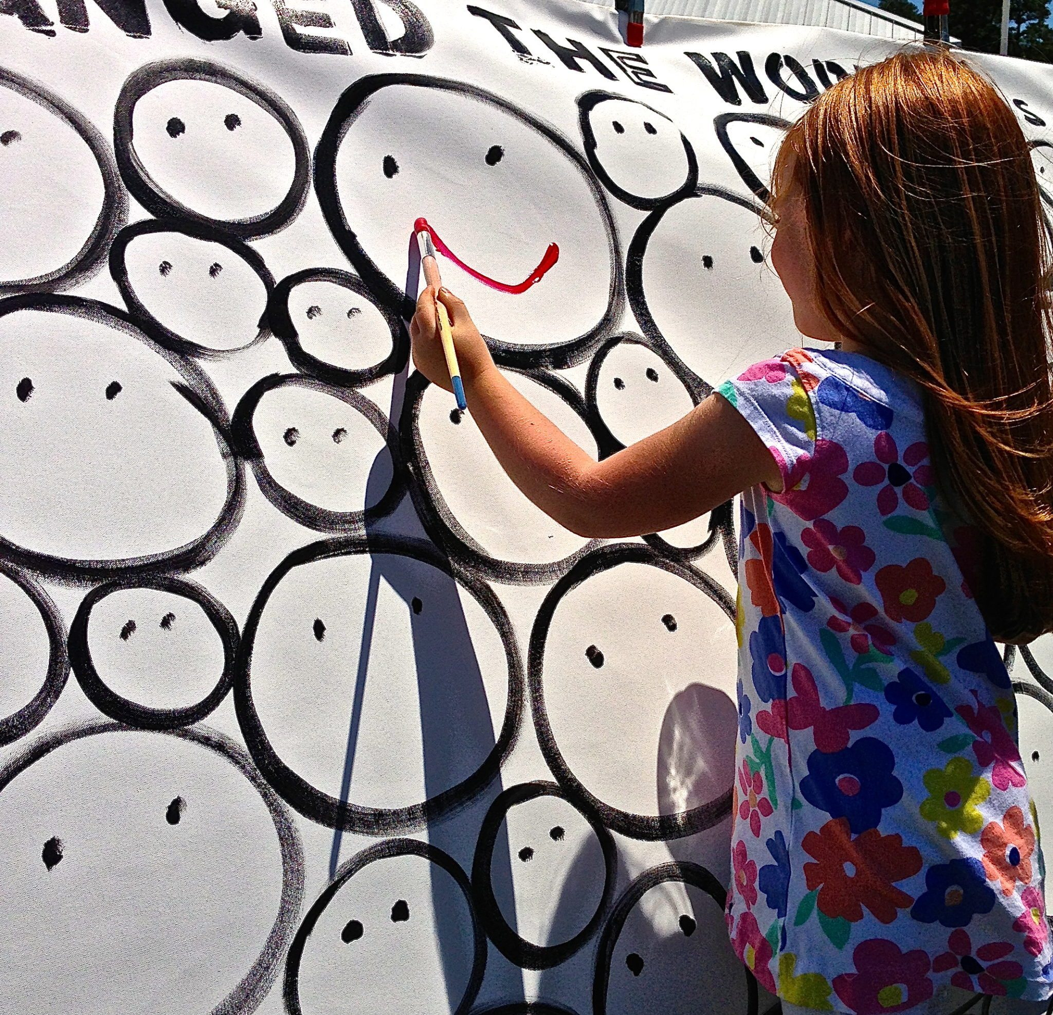 THE SMILE THAT CHANGED THE WORLD (is yours) Installation in Rehoboth Beach…