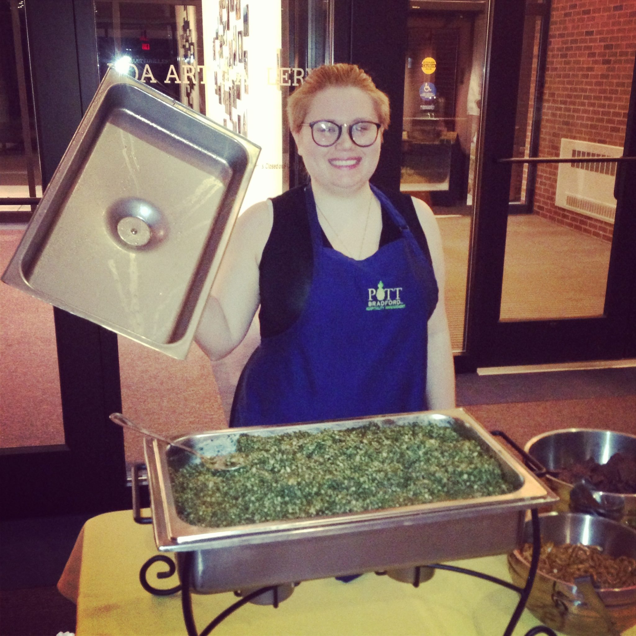 The Sailor's Spinach Dip (page 141) from The Cheesy Vegan ~ being served at The Big Cheese fundraising event